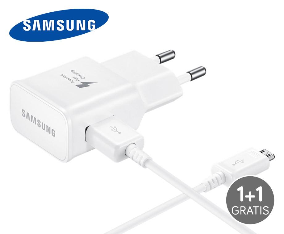 Samsung Snellader Voor 4X Sneller Laden - Vandaag 1+1 GRATIS!