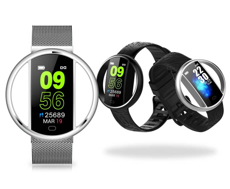 Smart Bracelet - Met Hartslagmeter, Notificaties, Stappenteller, Etc.!