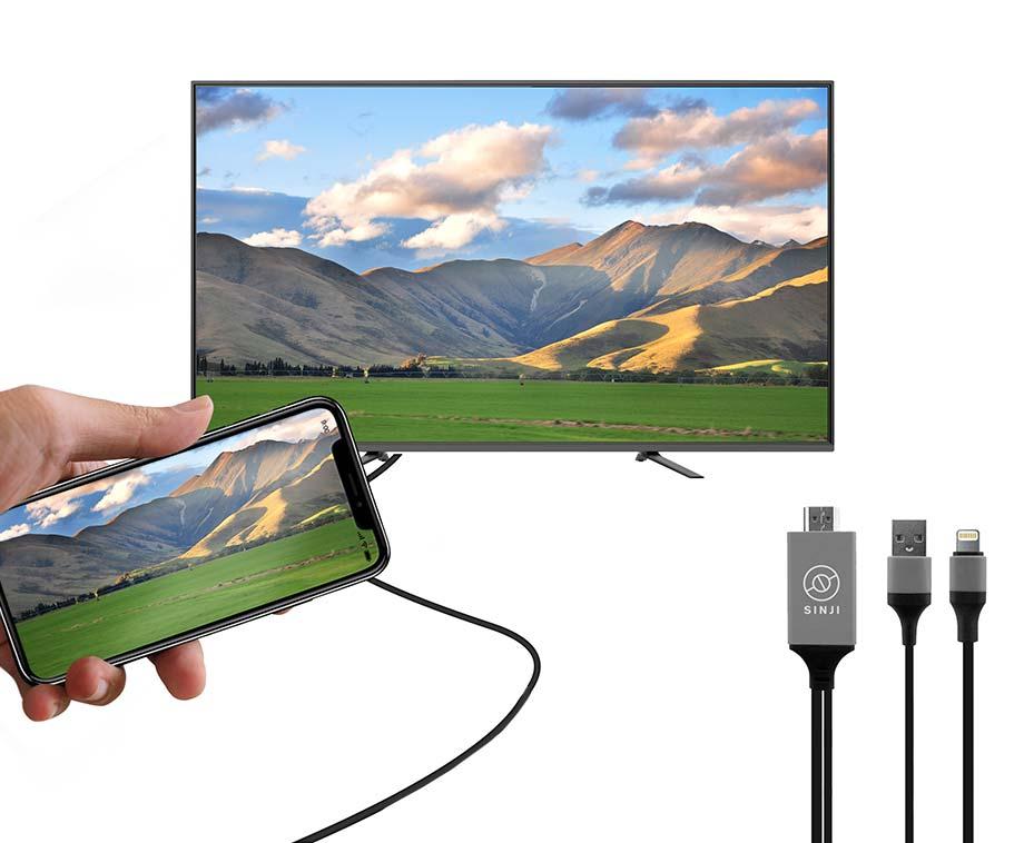 Smartphone Naar TV HDMI-Kabel - Eenvoudig Foto's En Video's Op TV... - Voordeelvanger