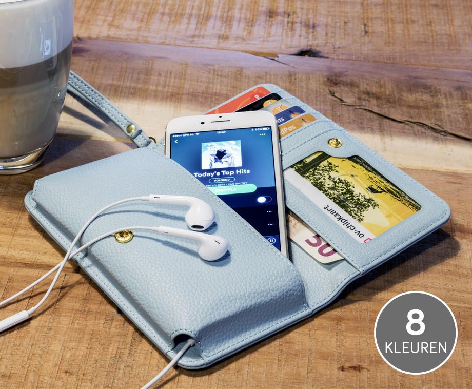 Stijlvolle En Praktische Smartphone Portefeuille - Verkrijgbaar In 8 Kleuren!