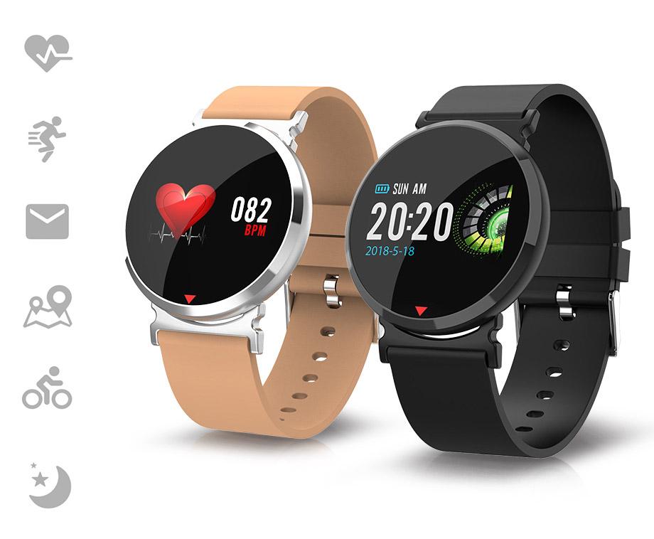 Parya Aluminium Smart Watch HD - Met Harstlagmonitor, Notificaties...