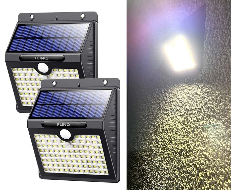 Solar 97 LED Wandlamp Met Sensor - Vandaag 1+1 GRATIS!