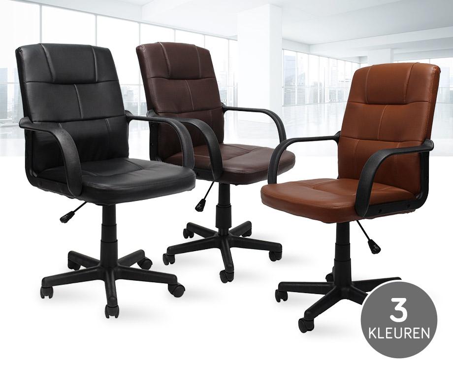 Stijlvolle En Comfortabele Bureaustoel - Verkrijgbaar In 3 Kleuren!