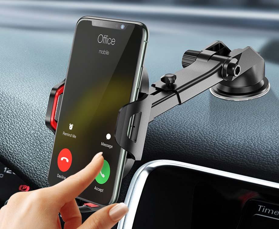 Telefoonhouder Met Zuignap - Volledig Instelbaar Met 360 Graden...