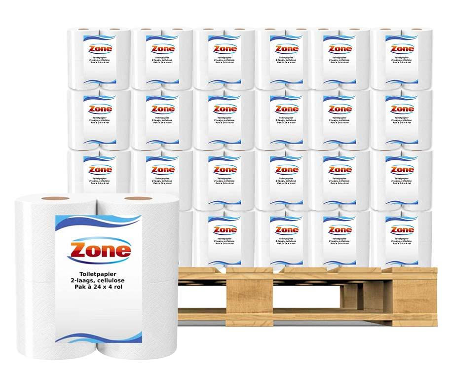 PALLETPRIJS: Zone Toiletpapier 96 Rollen - Voordelig Inslaan!