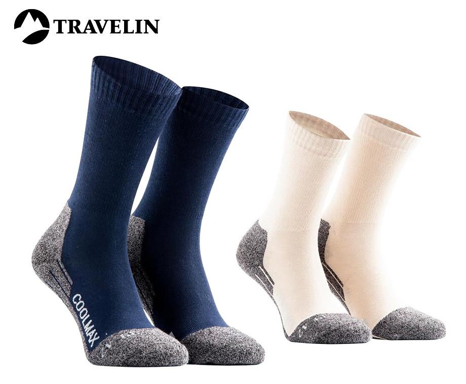2-Pack Travelin' Coolmax Sokken - Houd Voeten Heerlijk Warm!