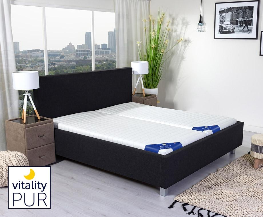 Vitality Pur Comfortschuim Matras Met 7 Comfortzones - Voor...
