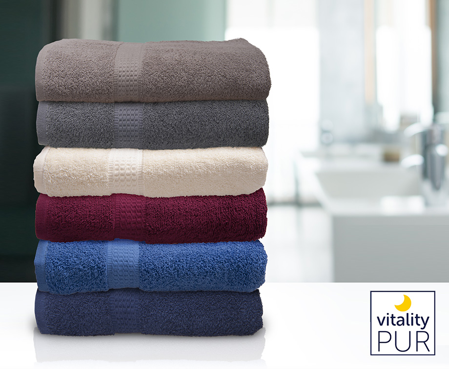 Set Van 6 Luxe Vitality Pur Handdoeken Verkrijgbaar In 6 Kleuren!