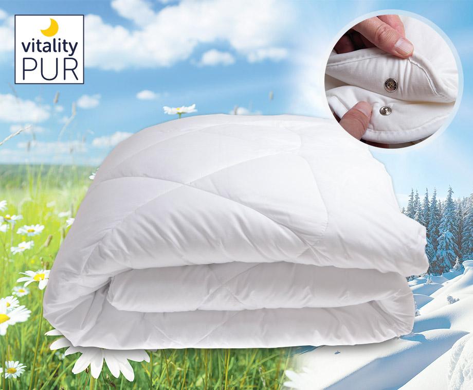 Vitality Pur Soft Touch 4 Seizoenen Dekbed - Met Ademende Veerkrachtige Vezels!