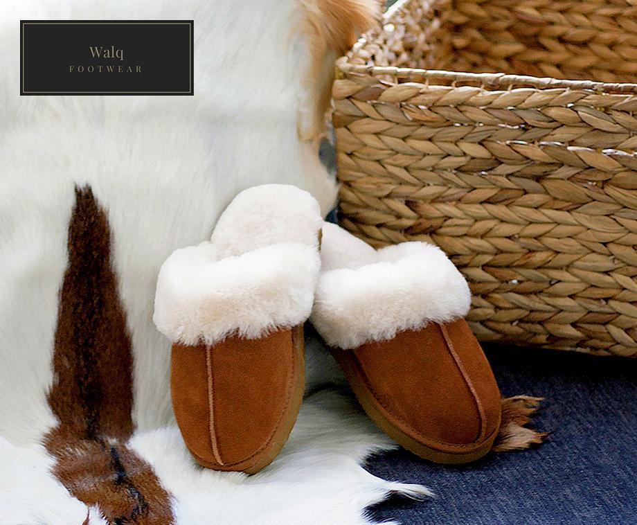 Foto Walq® Wool Fitted Pantoffels Voor Hem En Haar - Gemaakt Van Echt...