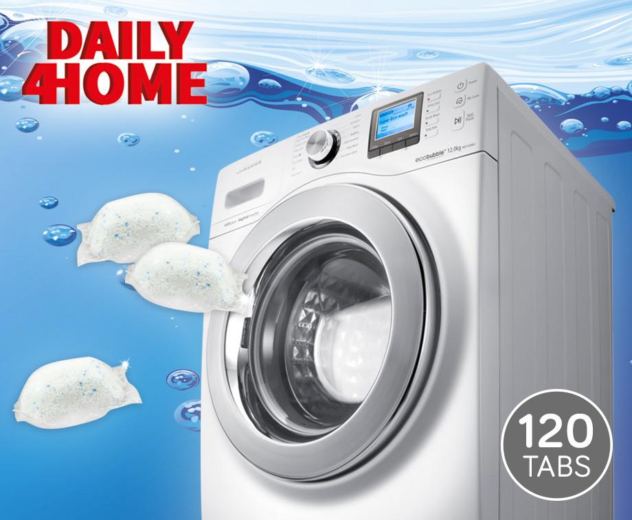 Daily4Home 120 Waspoeder Capsules - Voor Witte En Gekleurde Was!