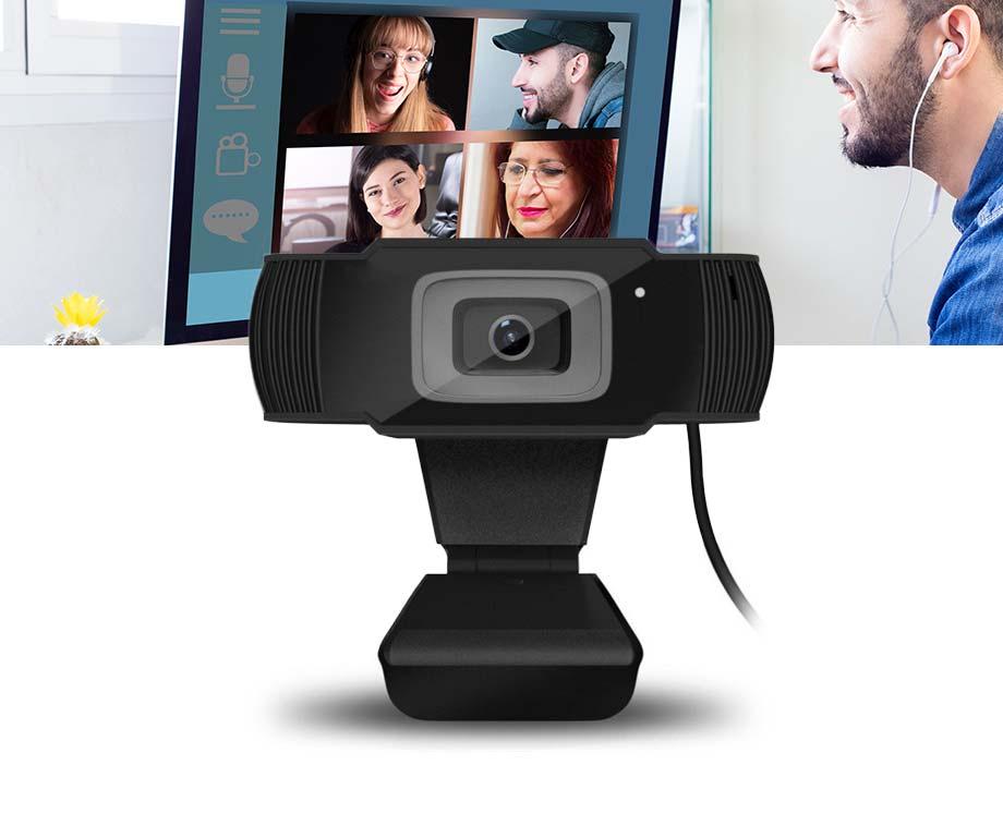 Webcam Voor Online Videobellen - Met Ingebouwde Microfoon!